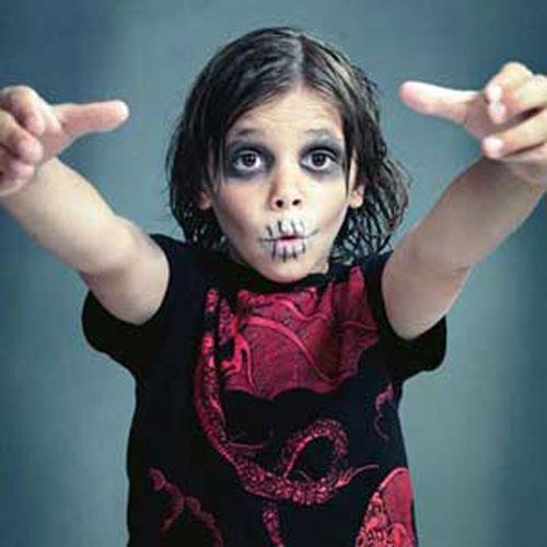 Trucco di Halloween da zombie n.09