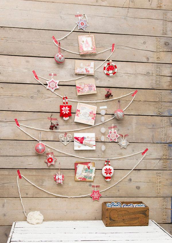 Albero di Natale da parete da creare con la corda