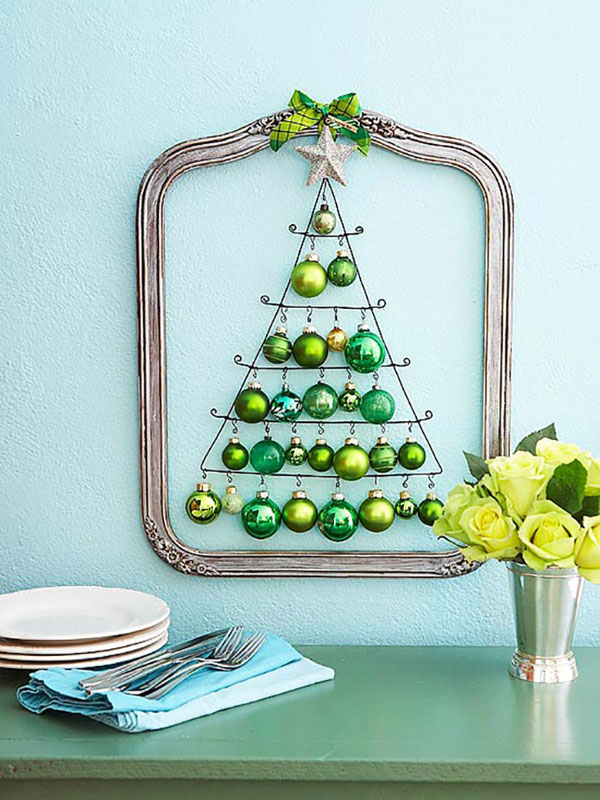 Albero di Natale da realizzare su parete con filo metallico