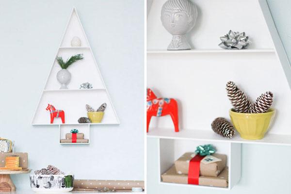Mensole a forma di albero di Natale