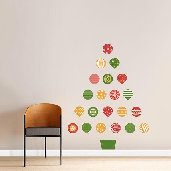 Come creare un albero di Natale da parete fai da te con stickers murali