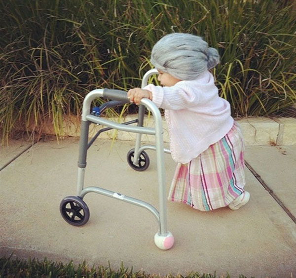 Costume di Halloween da signora anziana