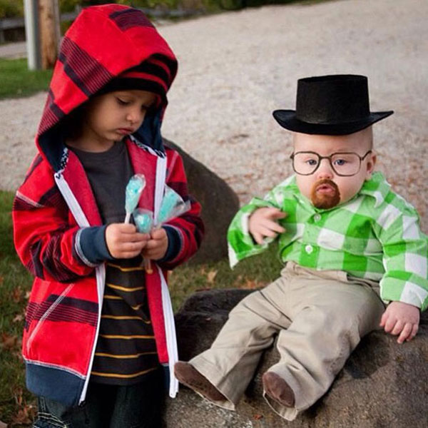 "Costume di Halloween da Walter e Jessi di ""Breaking Bad"""