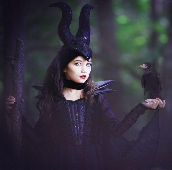 Costume di Halloween da strega Malefica