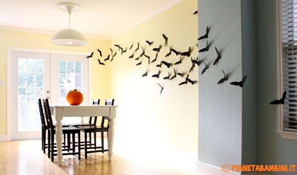 pipistrelli da stampare per decorazioni di halloween