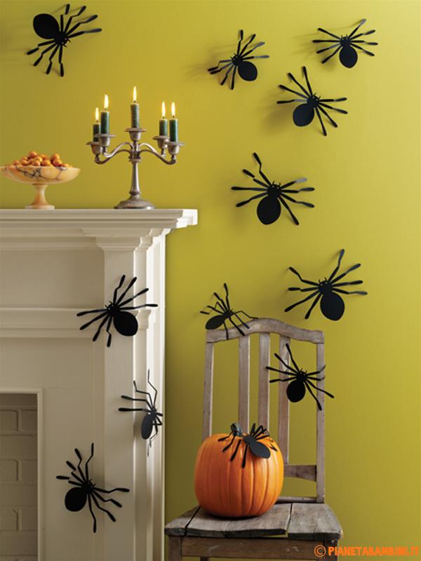 Simpatiche decorazioni da creare con i ragni di carta