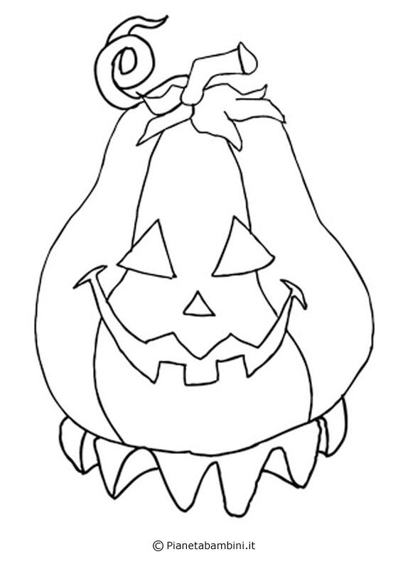 30 disegni di zucche di halloween da stampare e colorare - Disegni di zucche ...