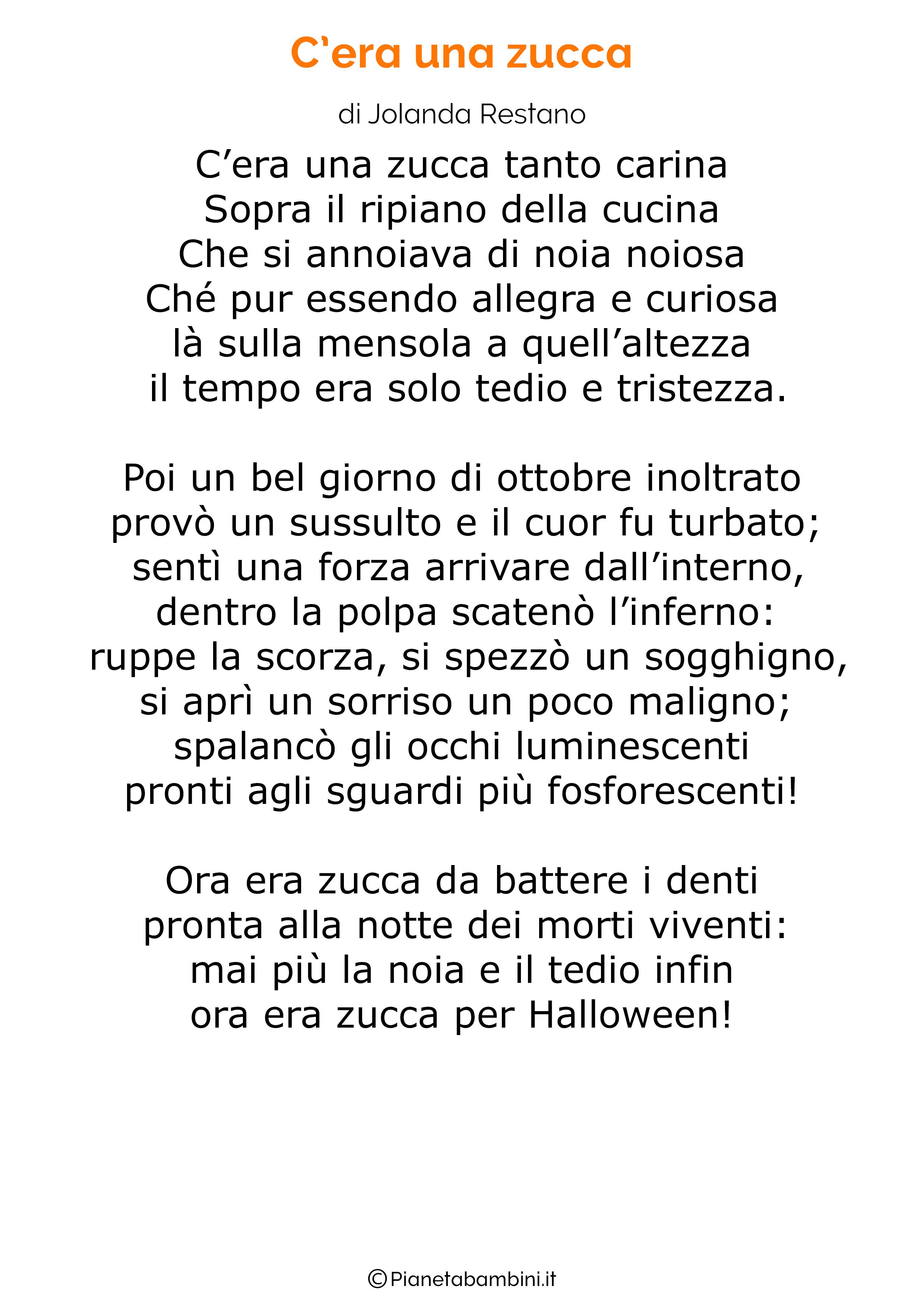 Filastrocca di Halloween per bambini 01
