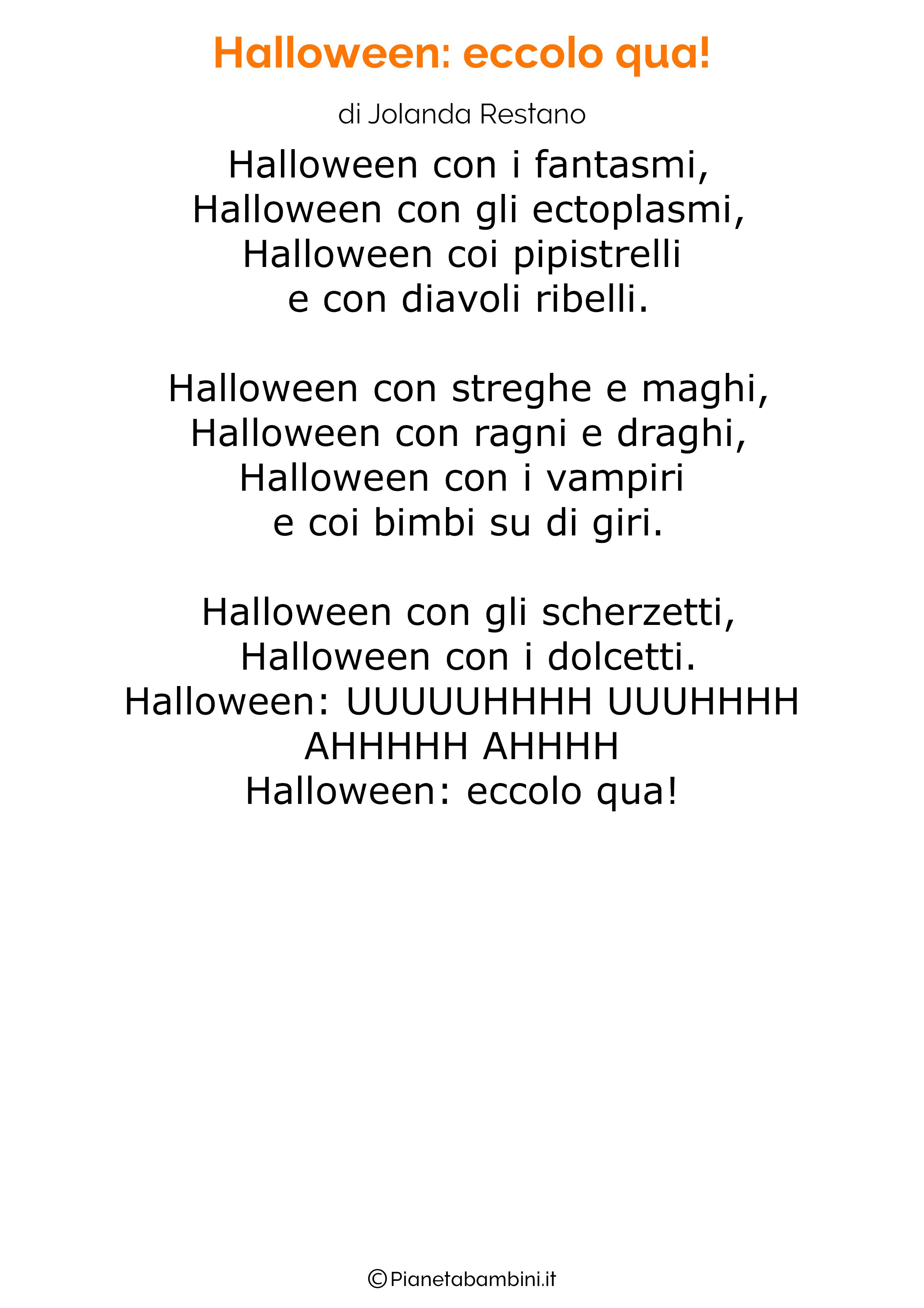 Filastrocca di Halloween per bambini 11