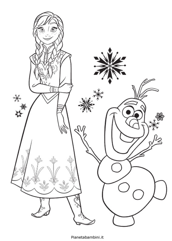 84 Disegni Da Colorare Di Frozen 1 E 2 Pianetabambini It