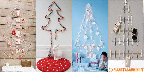 Idee Per Creare Decorazioni Natalizie.30 Idee Per Alberi Di Natale Da Parete Fai Da Te Pianetabambini It