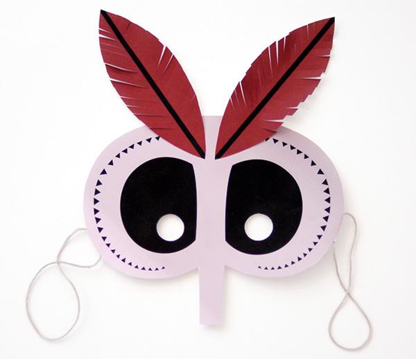 Maschera della falena notturna da stampare e ritagliare