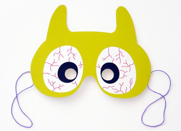 Maschera del mostro verde da stampare e ritagliare