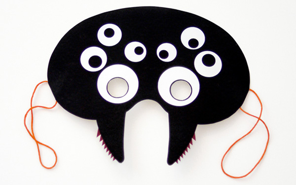Maschera del ragno da stampare e ritagliare