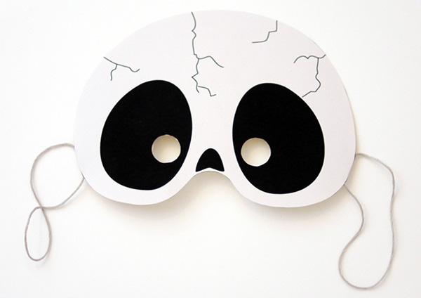 Maschera dal teschio da stampare e ritagliare