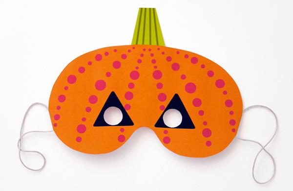 Maschera della zucca di Halloween da stampare e ritagliare