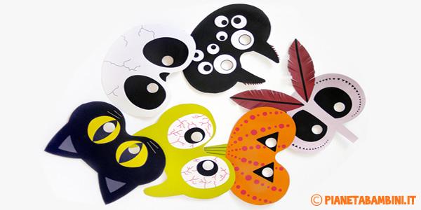 Maschere di Halloween semplici da stampare e ritagliare