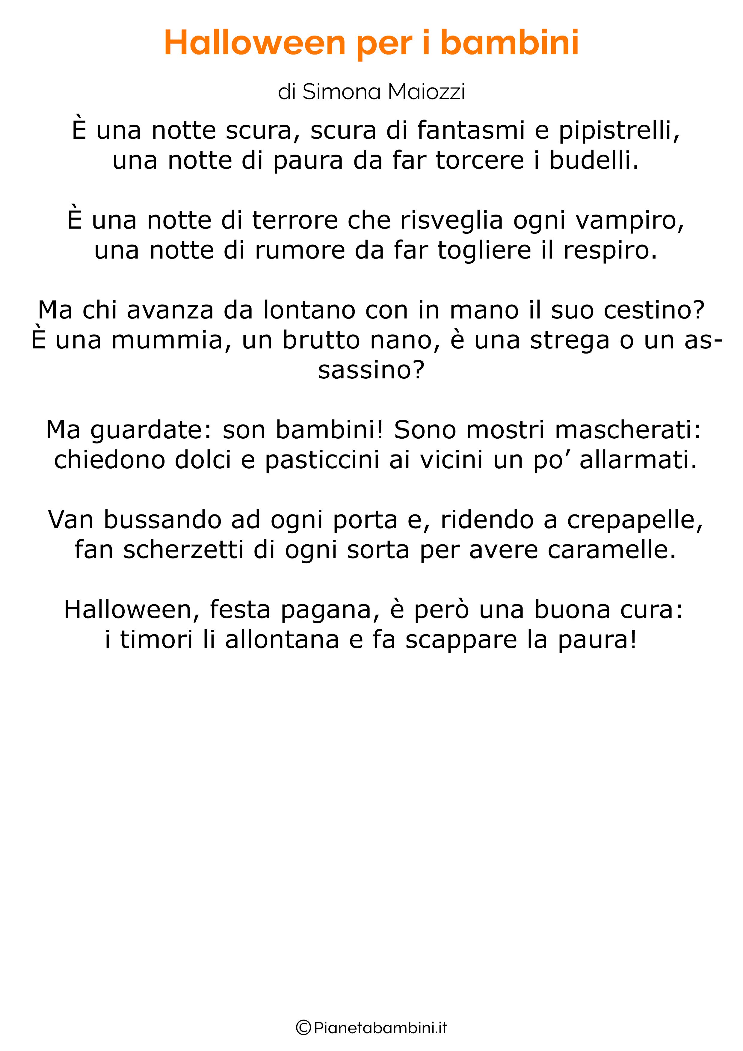 Poesia di Halloween per bambini 02