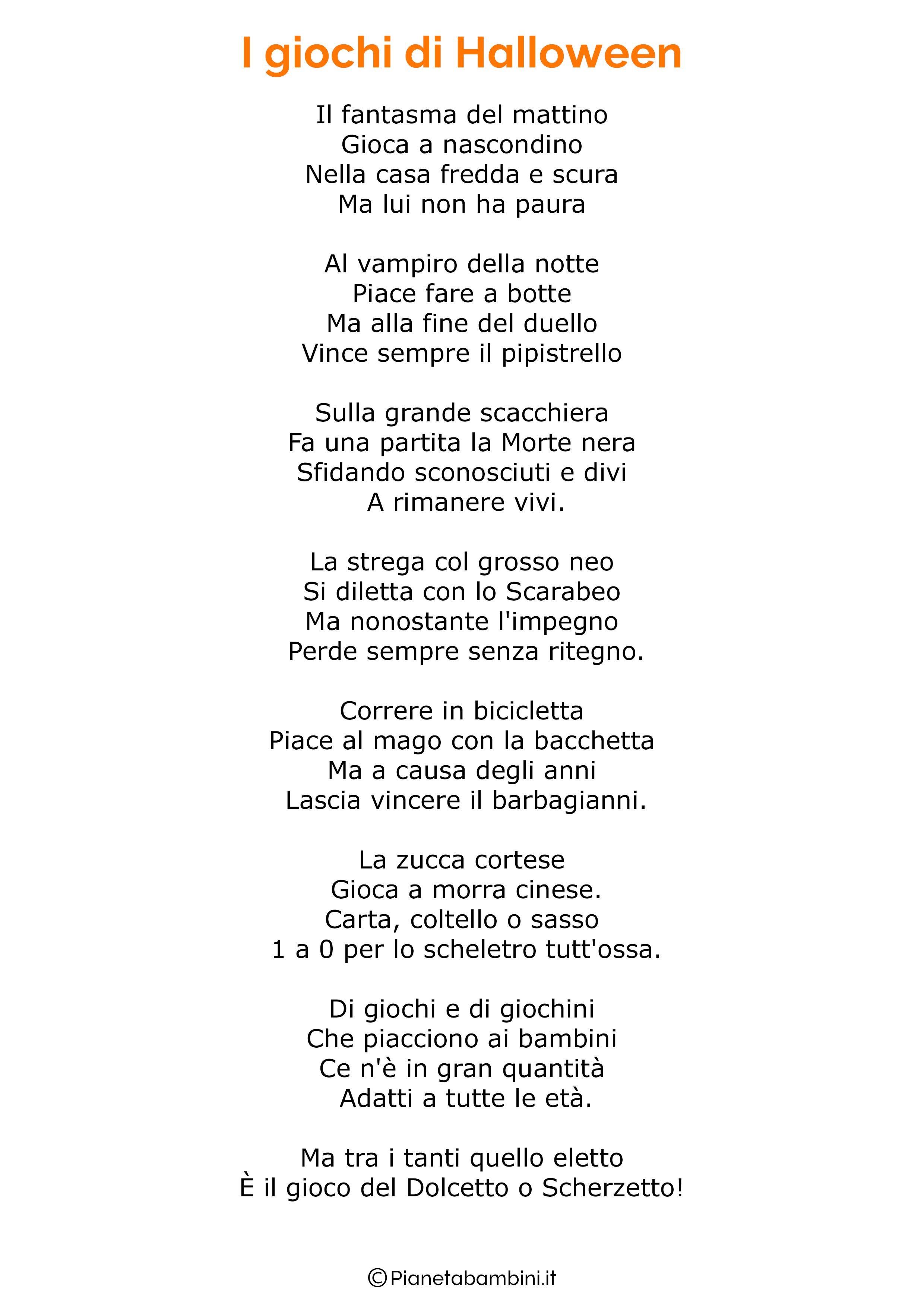 Poesia di Halloween per bambini 19