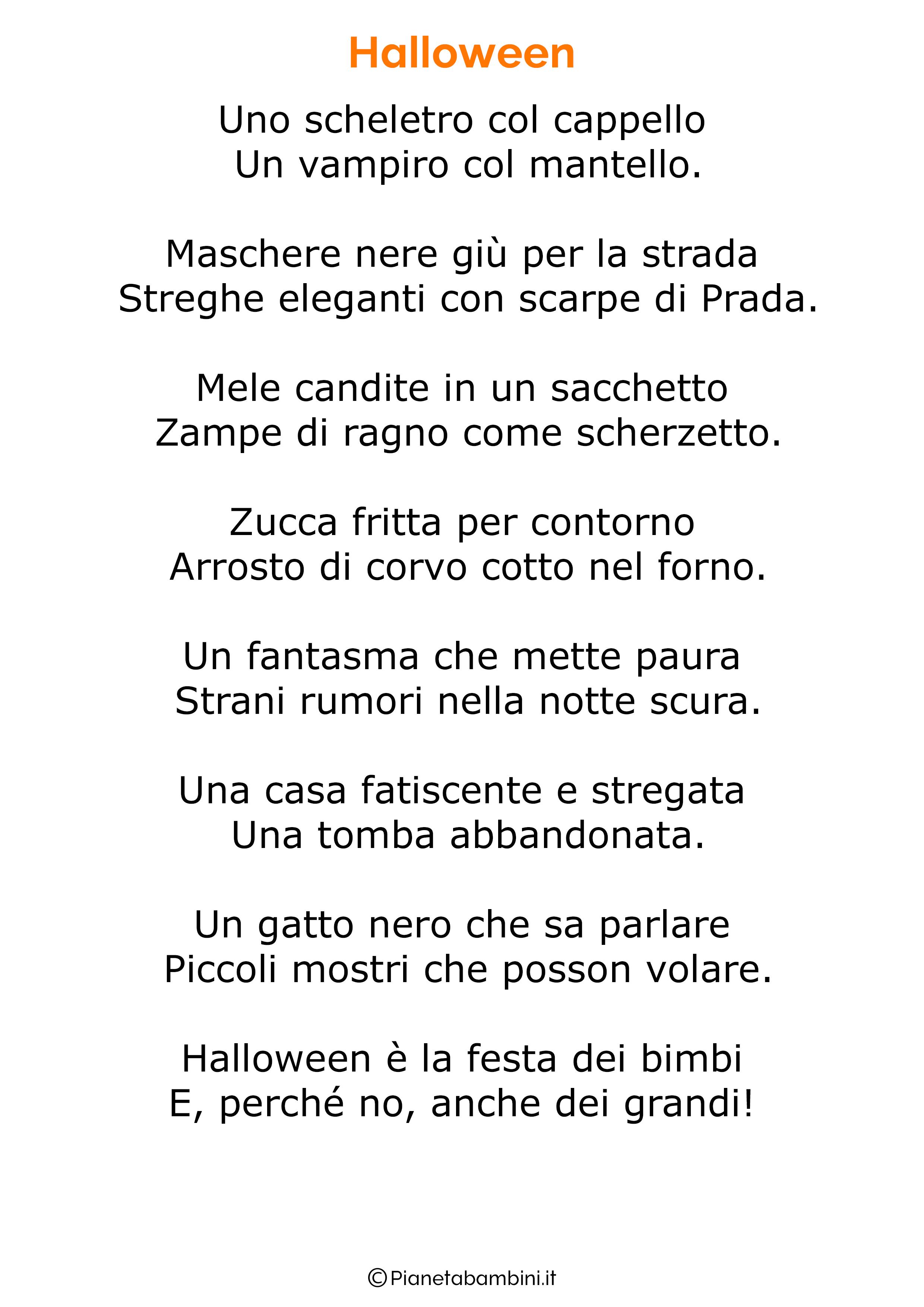 Poesia di Halloween per bambini 20