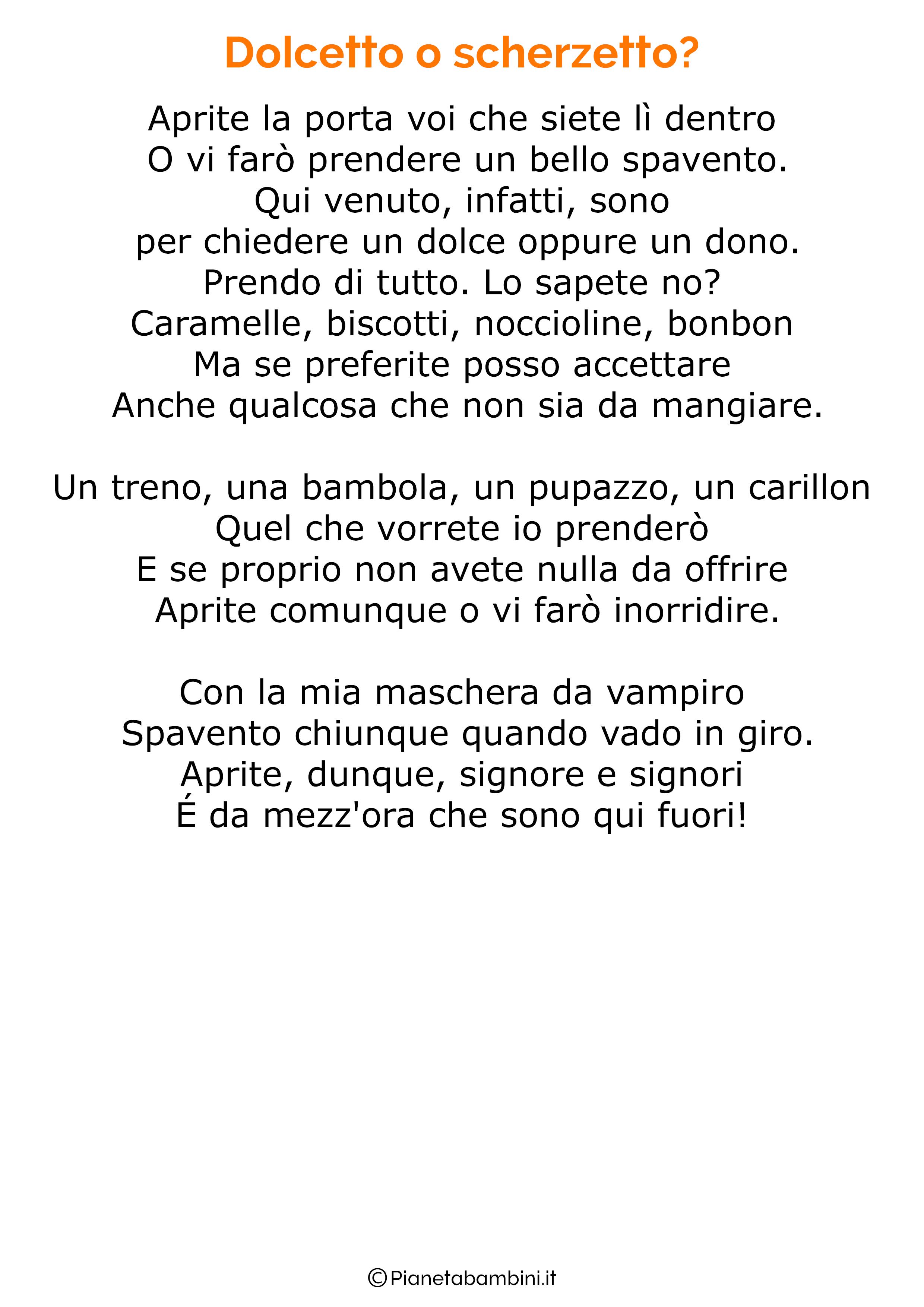 Poesia di Halloween per bambini 24