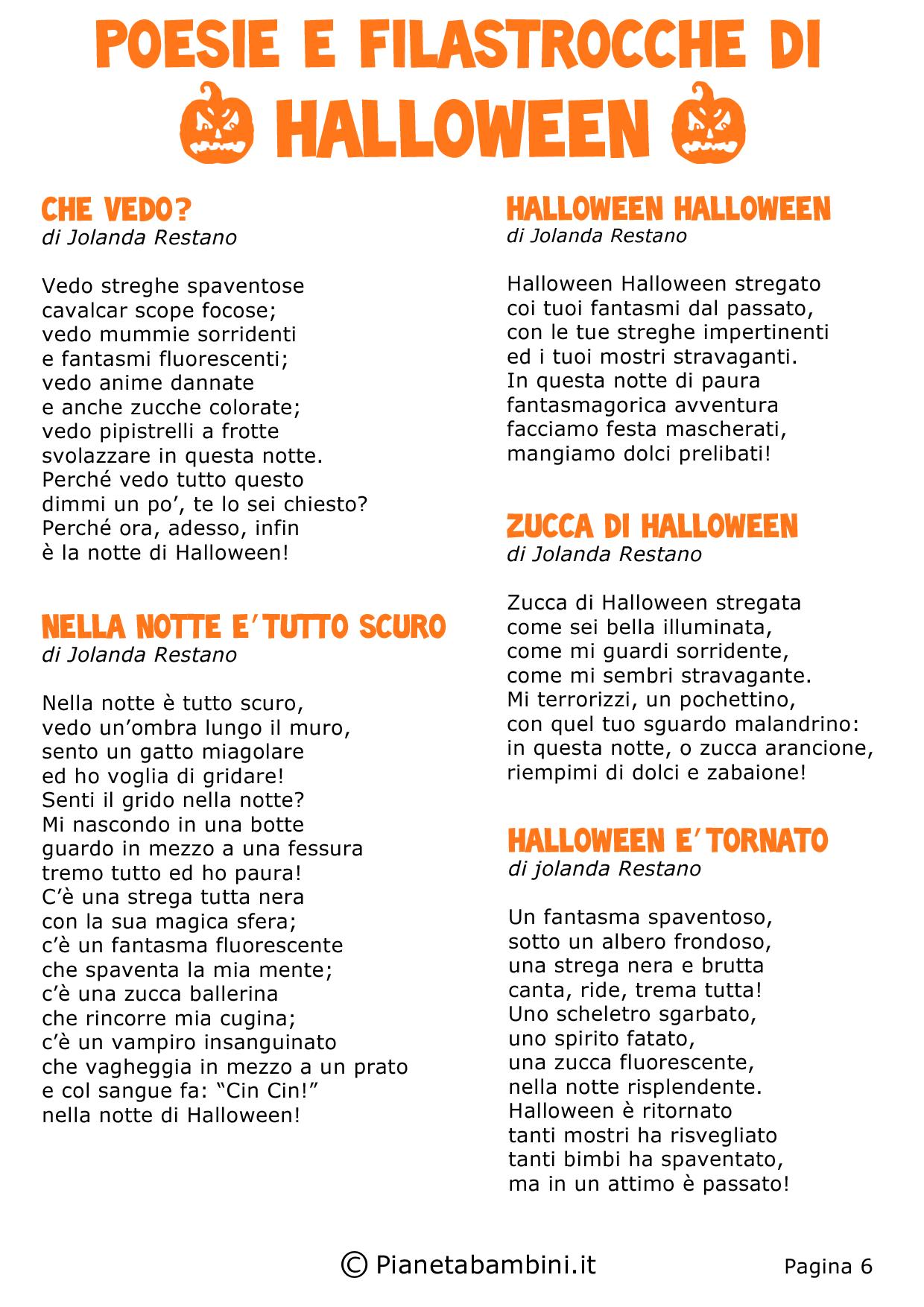 30 poesie e filastrocche di halloween per bambini - Pagine da colorare di scena di primavera ...