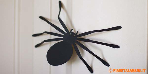 Sagome di ragni da usare come decorazioni di Halloween