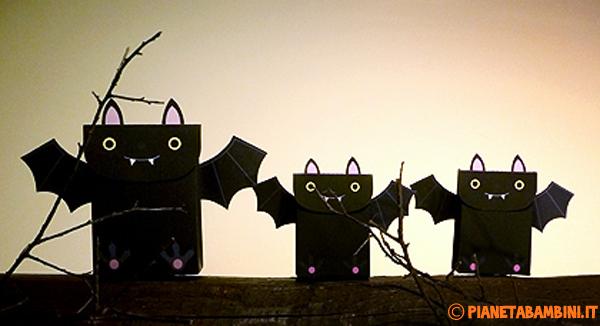 Lavoretto di Halloween: come creare scatoline a forma di pipistrello