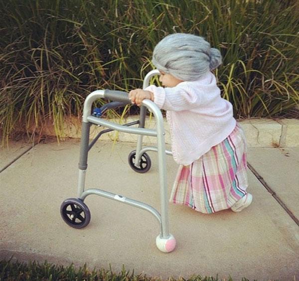 Costume di Halloween da anziana