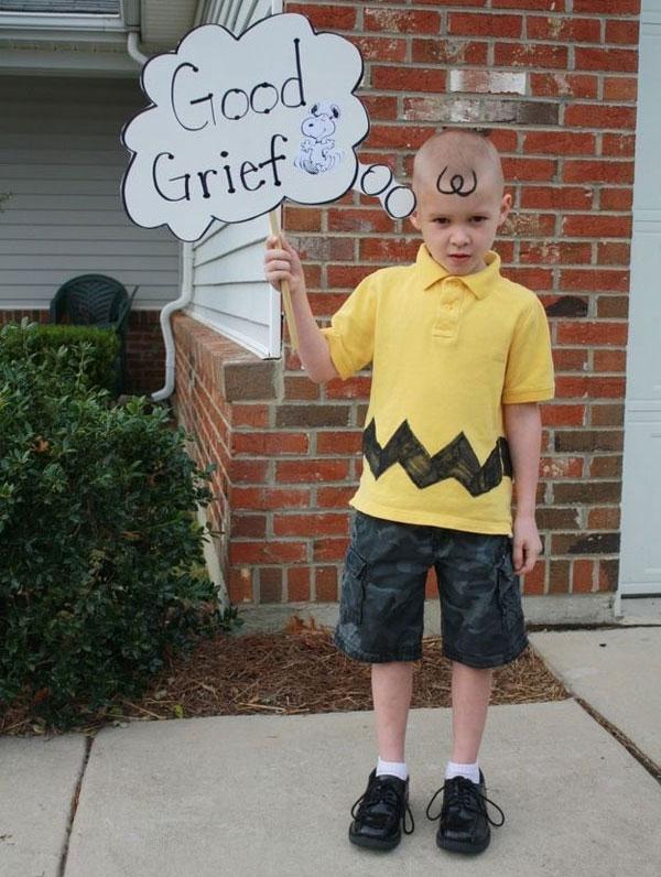 Costume di Halloween da Charlie Brown