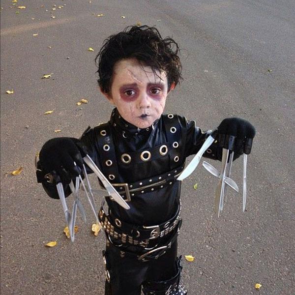 Costume di Halloween ispirato al film Edward Mani Di Forbici