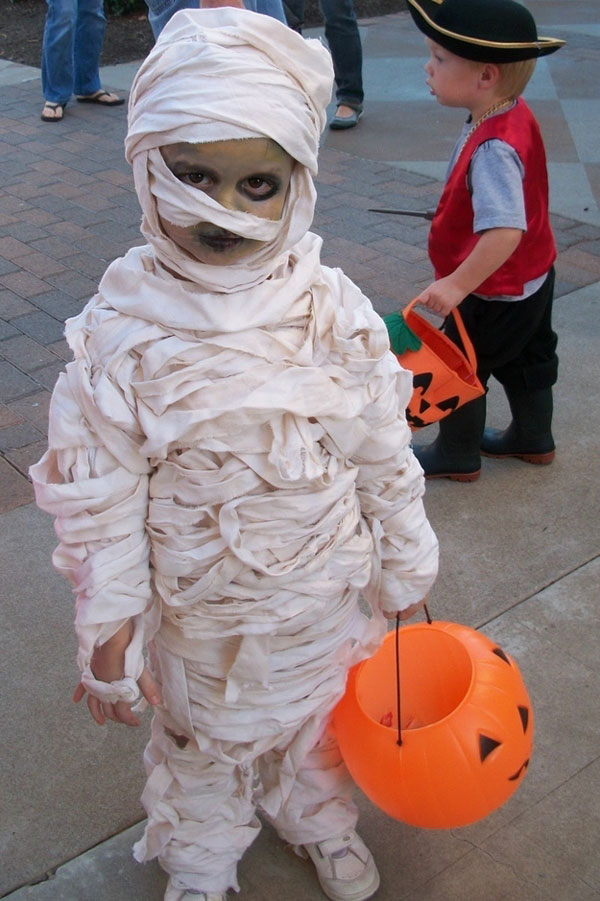 Costume di Halloween da mummia