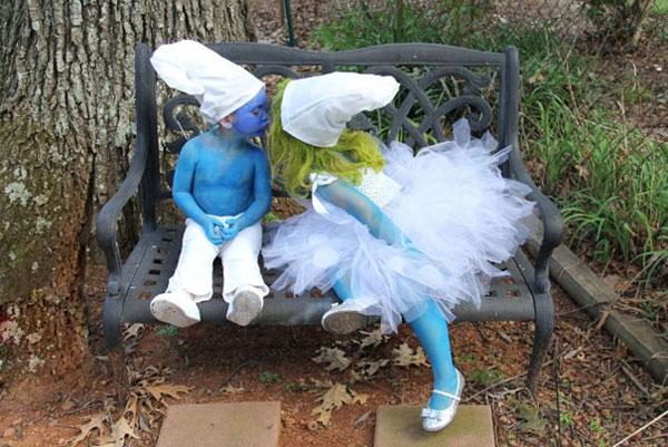 Costume di Halloween da Puffi