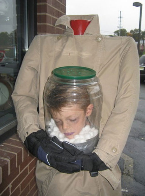 Costume di Halloween da uomo senza testa