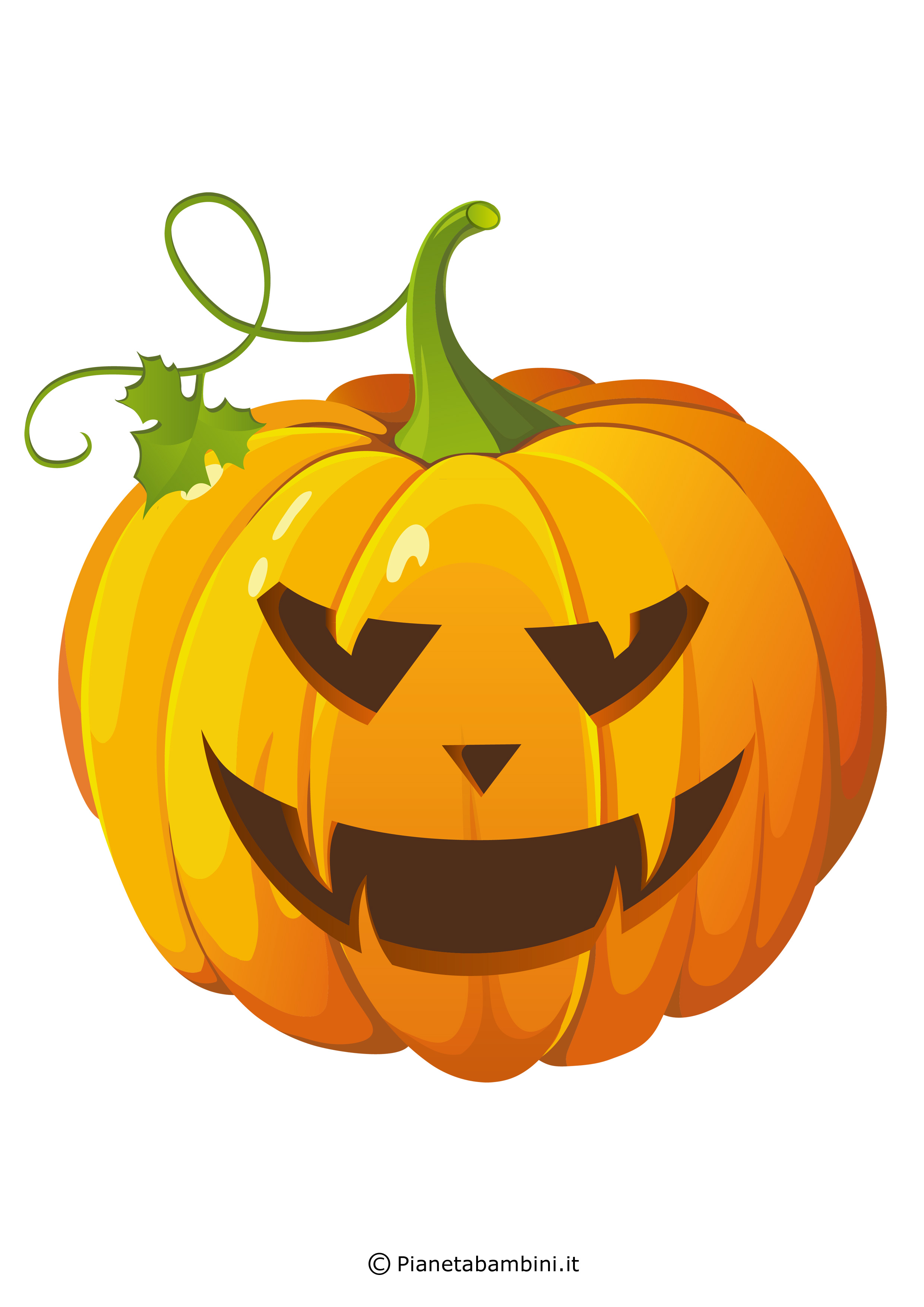 Zucche Di Halloween Cartoni Animati.Immagini Di Zucche Di Halloween Da Stampare E Ritagliare