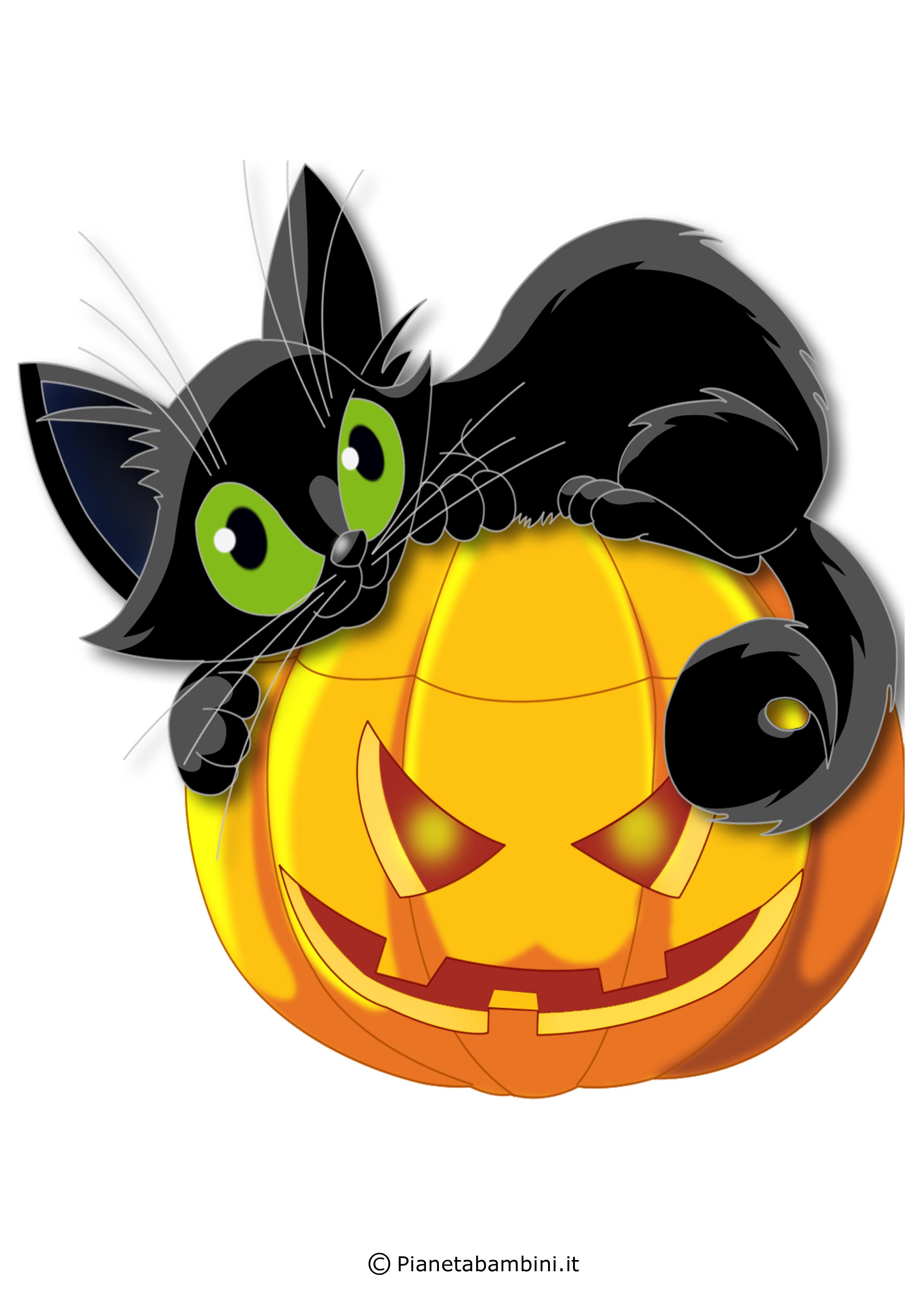 Immagini di zucche di halloween da stampare e ritagliare for Immagini di clown da colorare