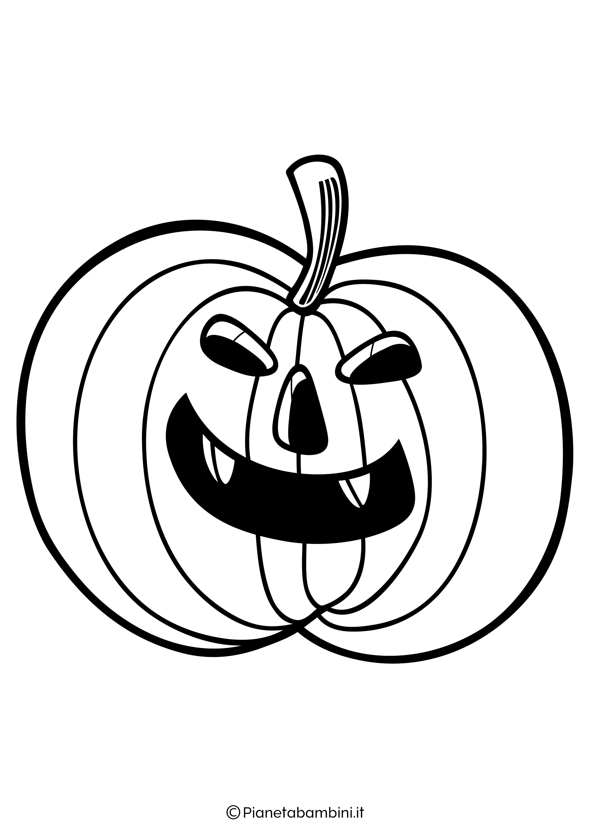 Disegno di zucca di Halloween da Colorare 01