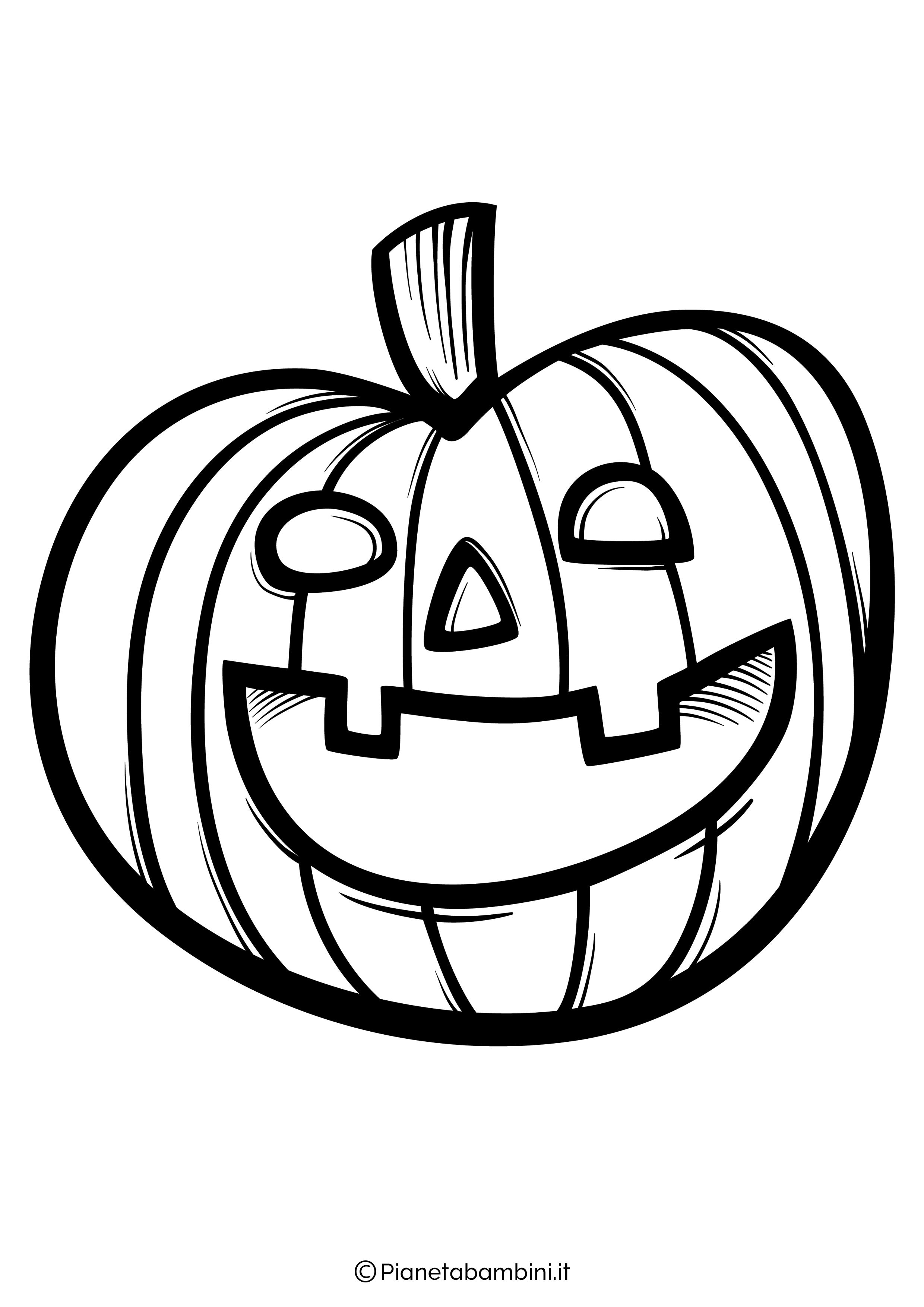 Disegno di zucca di Halloween da Colorare 02