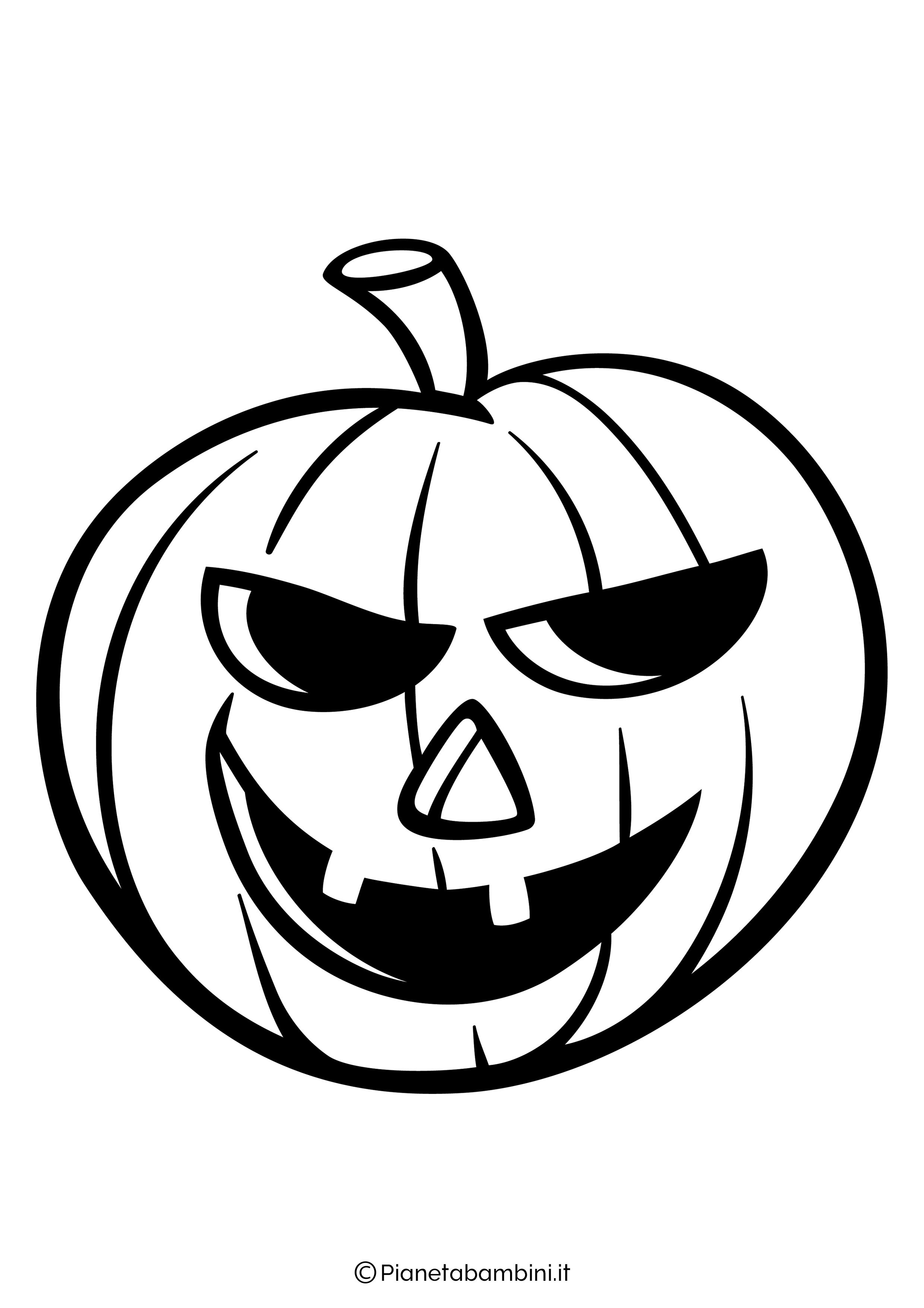 Disegno di zucca di Halloween da Colorare 03
