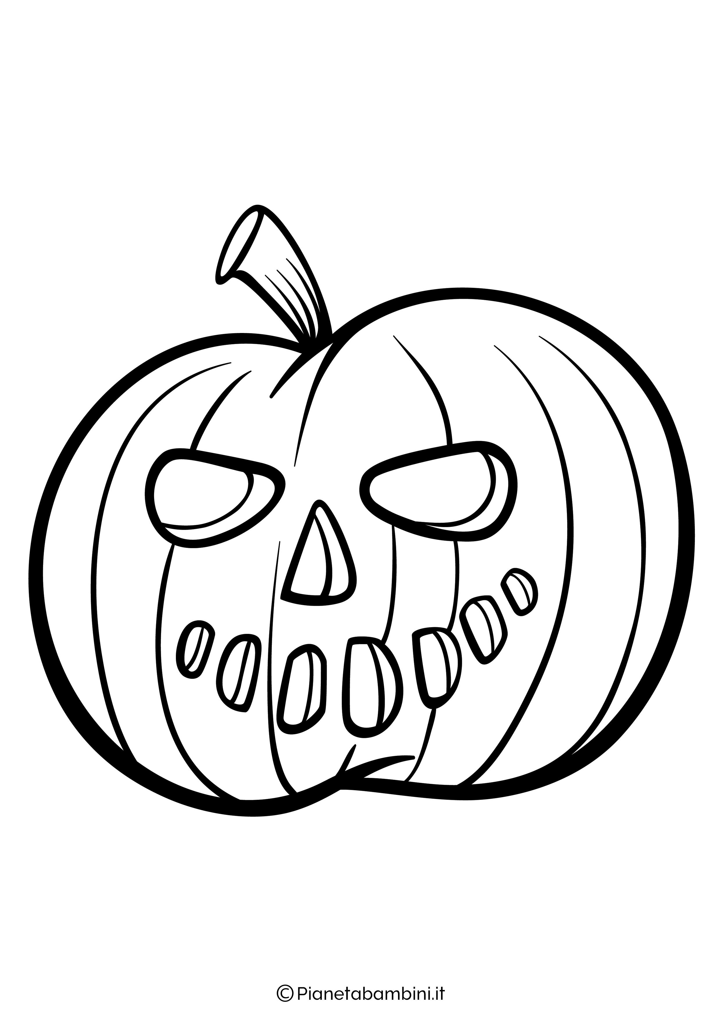 Disegno di zucca di Halloween da Colorare 04