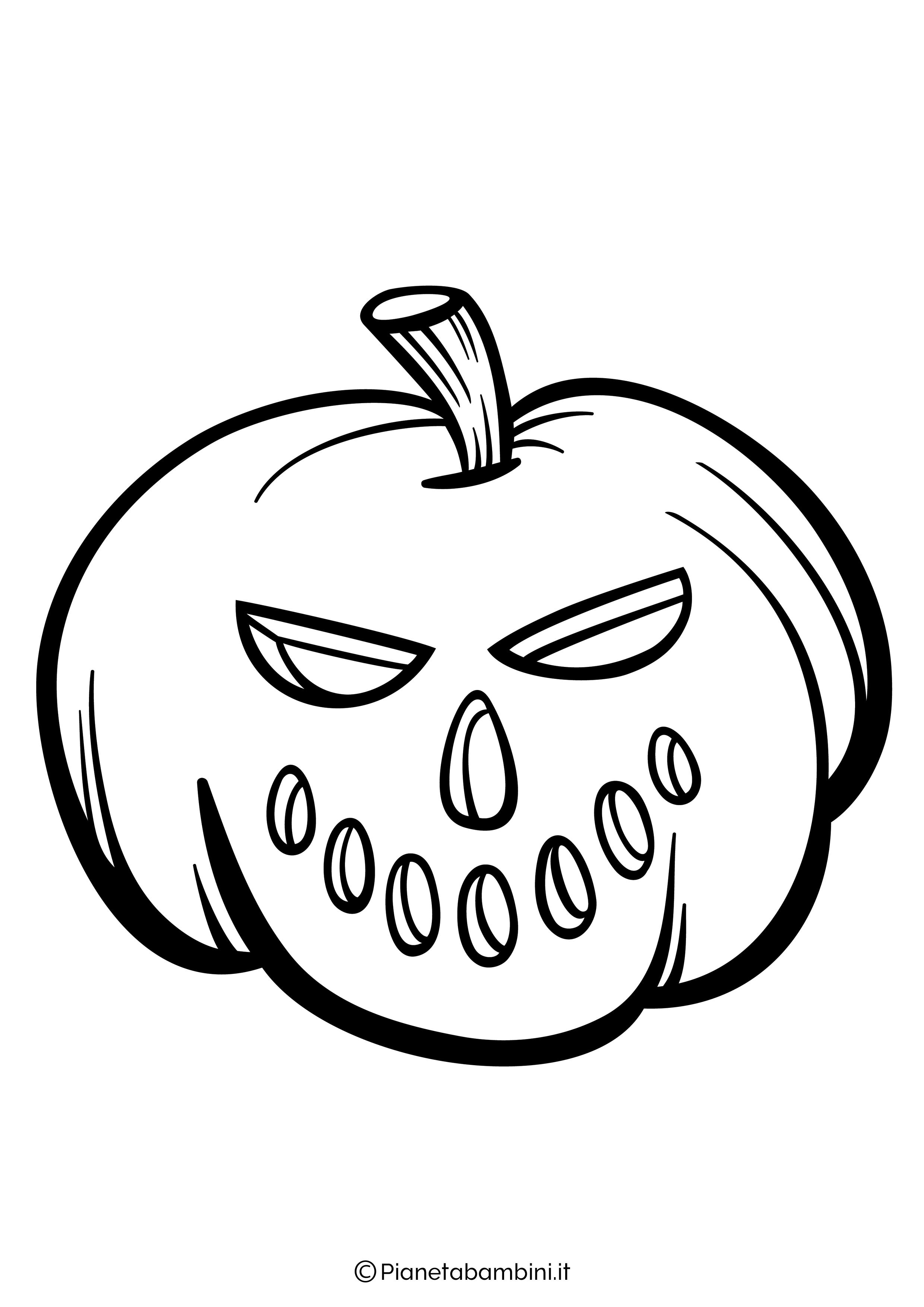 Disegno di zucca di Halloween da Colorare 05