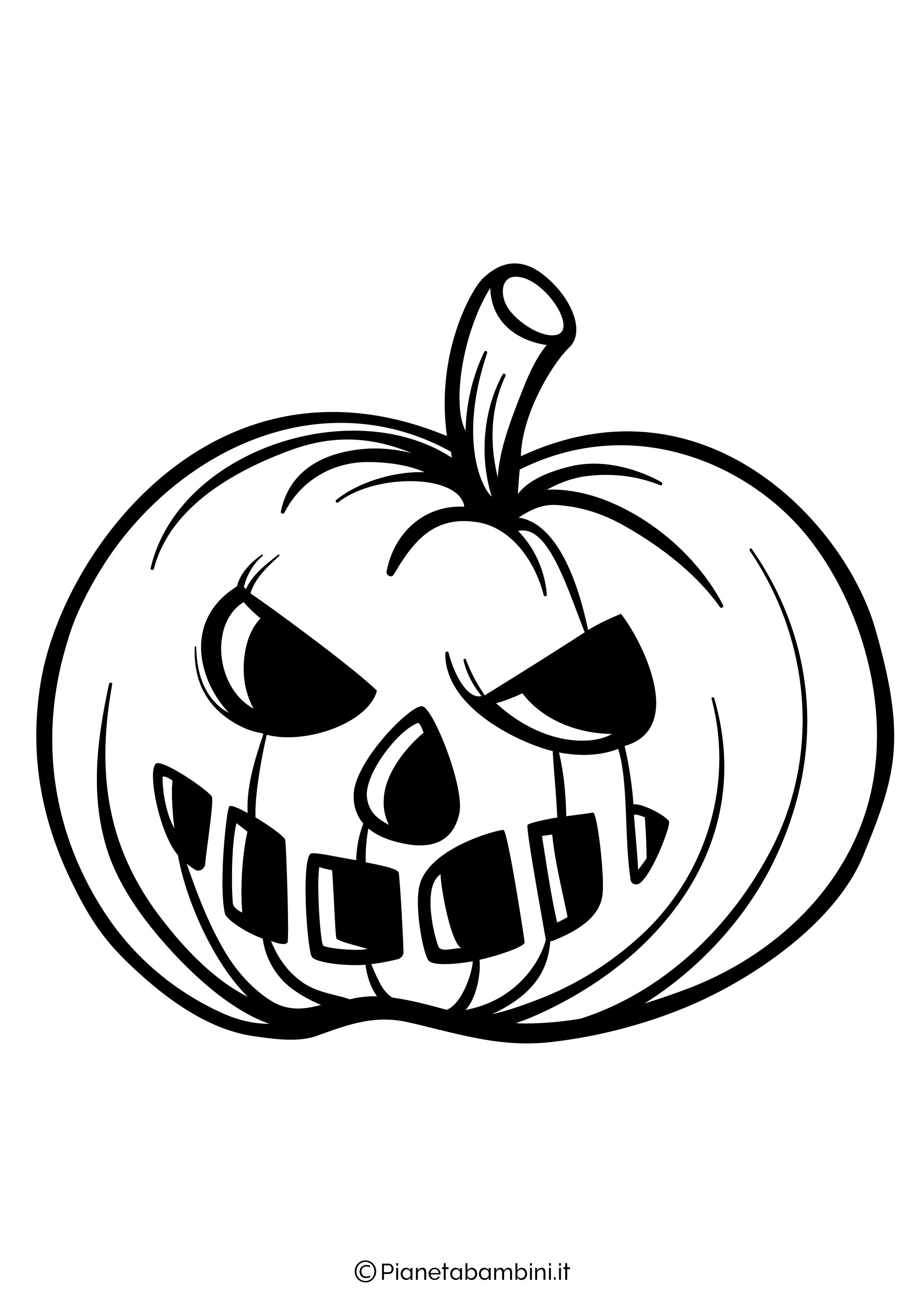 Disegno di zucca di Halloween da Colorare 06