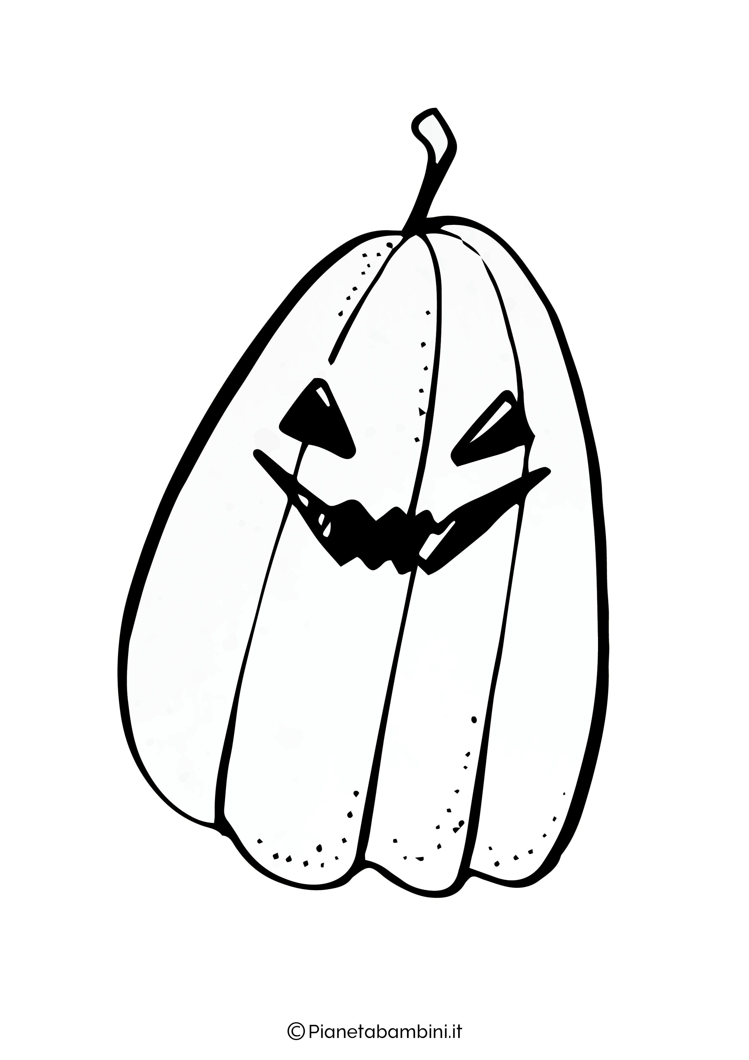 Disegno di zucca di Halloween da Colorare 07