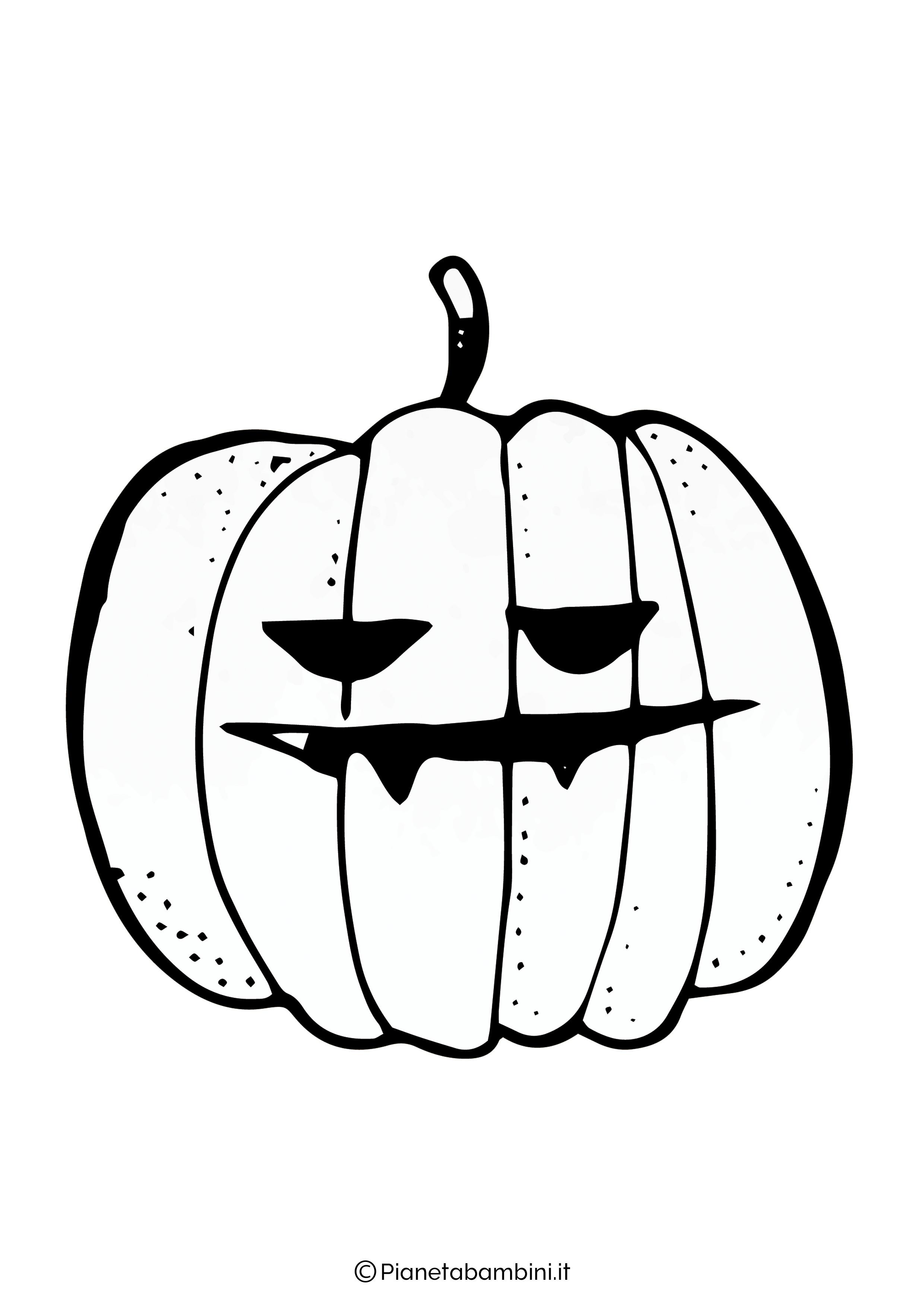 Disegno di zucca di Halloween da Colorare 08