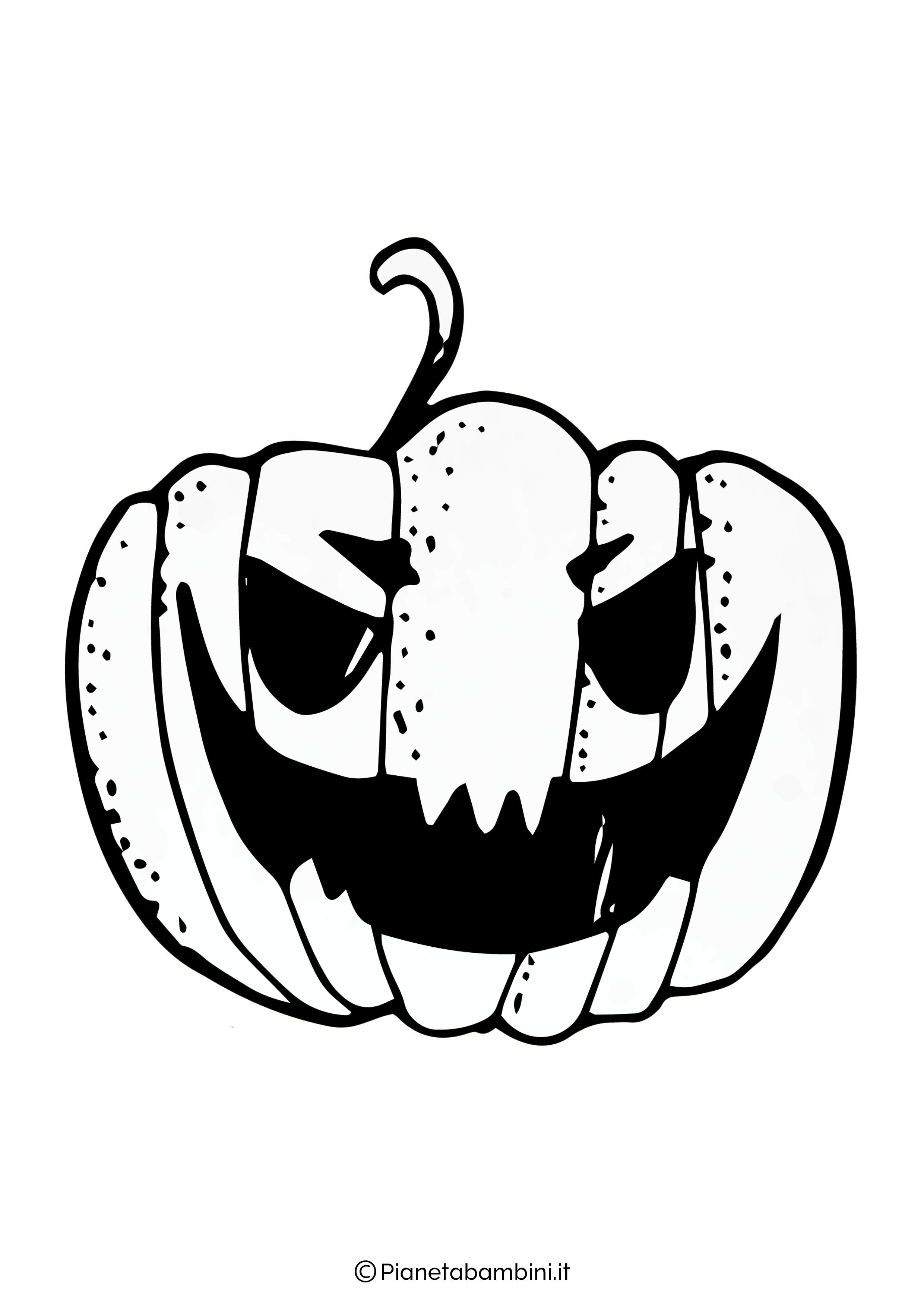 Disegno di zucca di Halloween da Colorare 09
