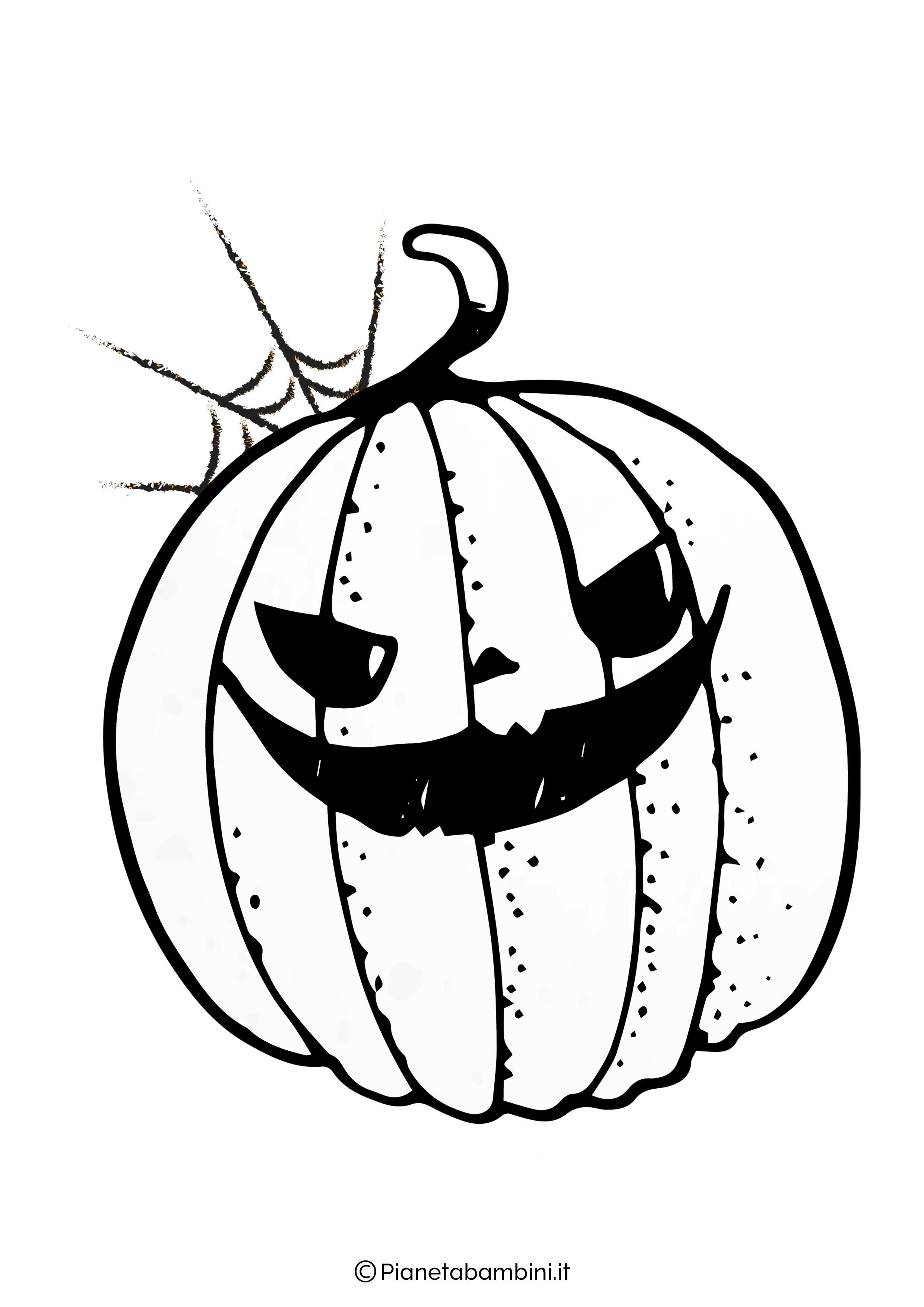 Disegno di zucca di Halloween da Colorare 10