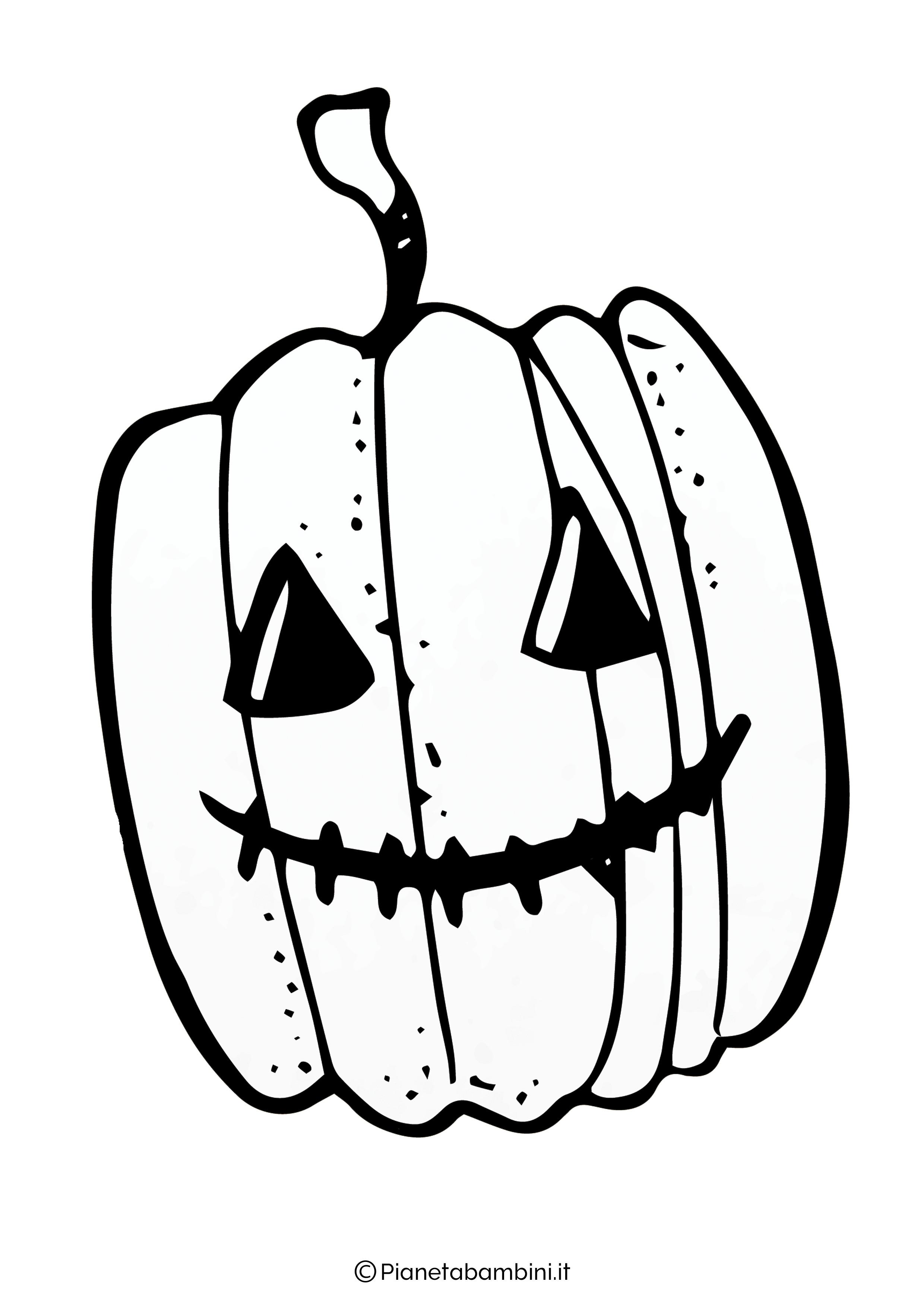 Disegno di zucca di Halloween da Colorare 11