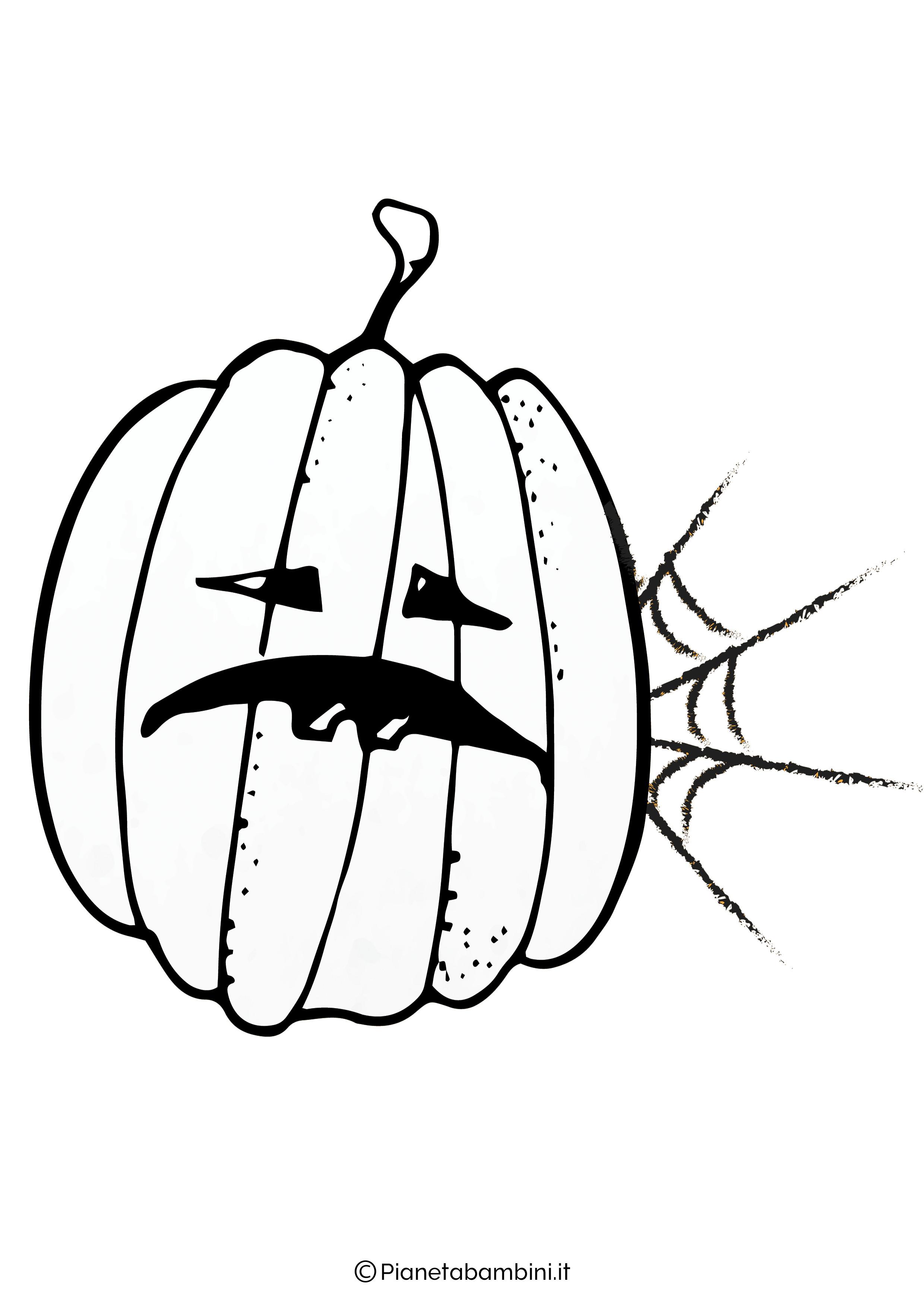 Disegno di zucca di Halloween da Colorare 12