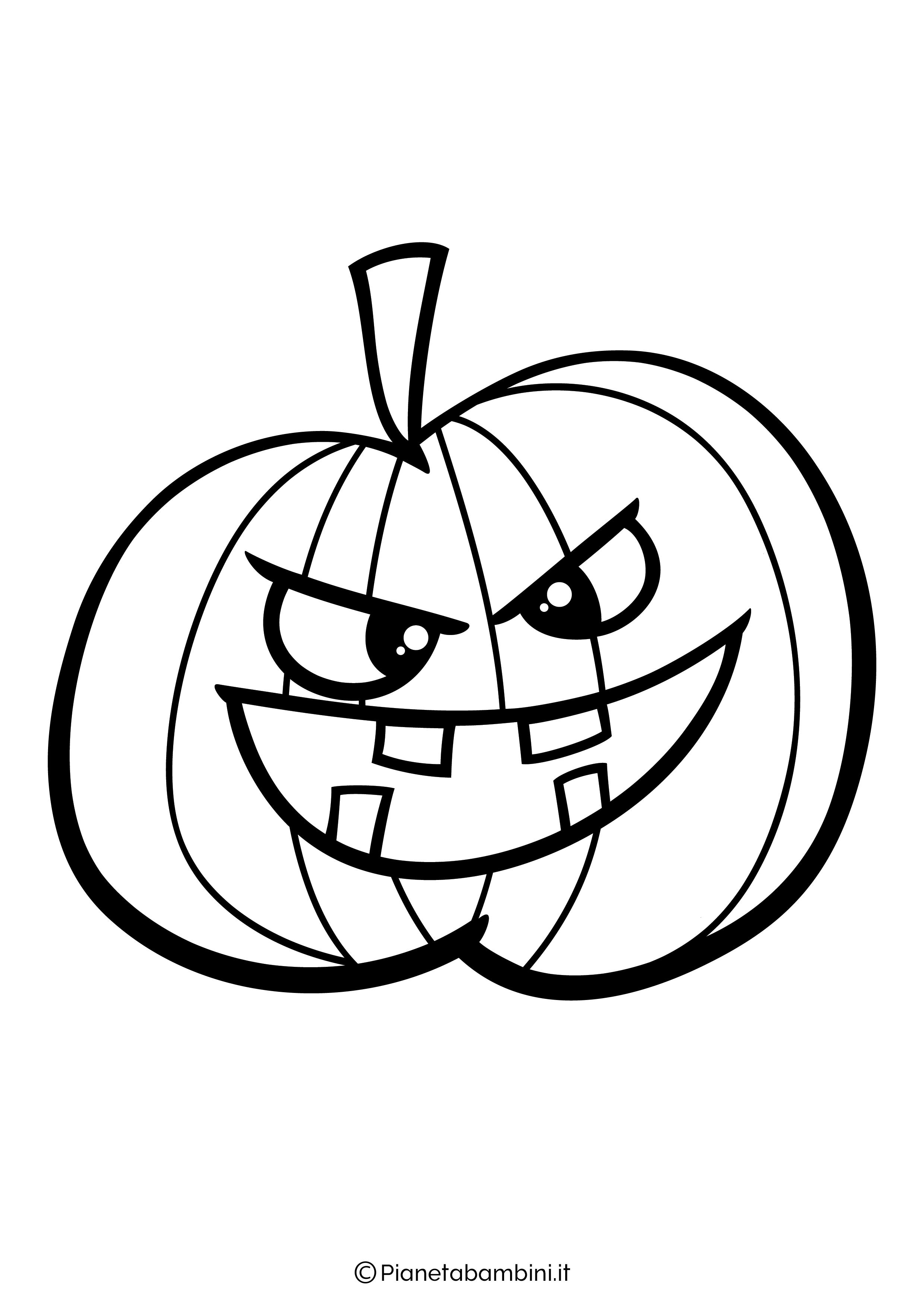 Disegno di zucca di Halloween da Colorare 15