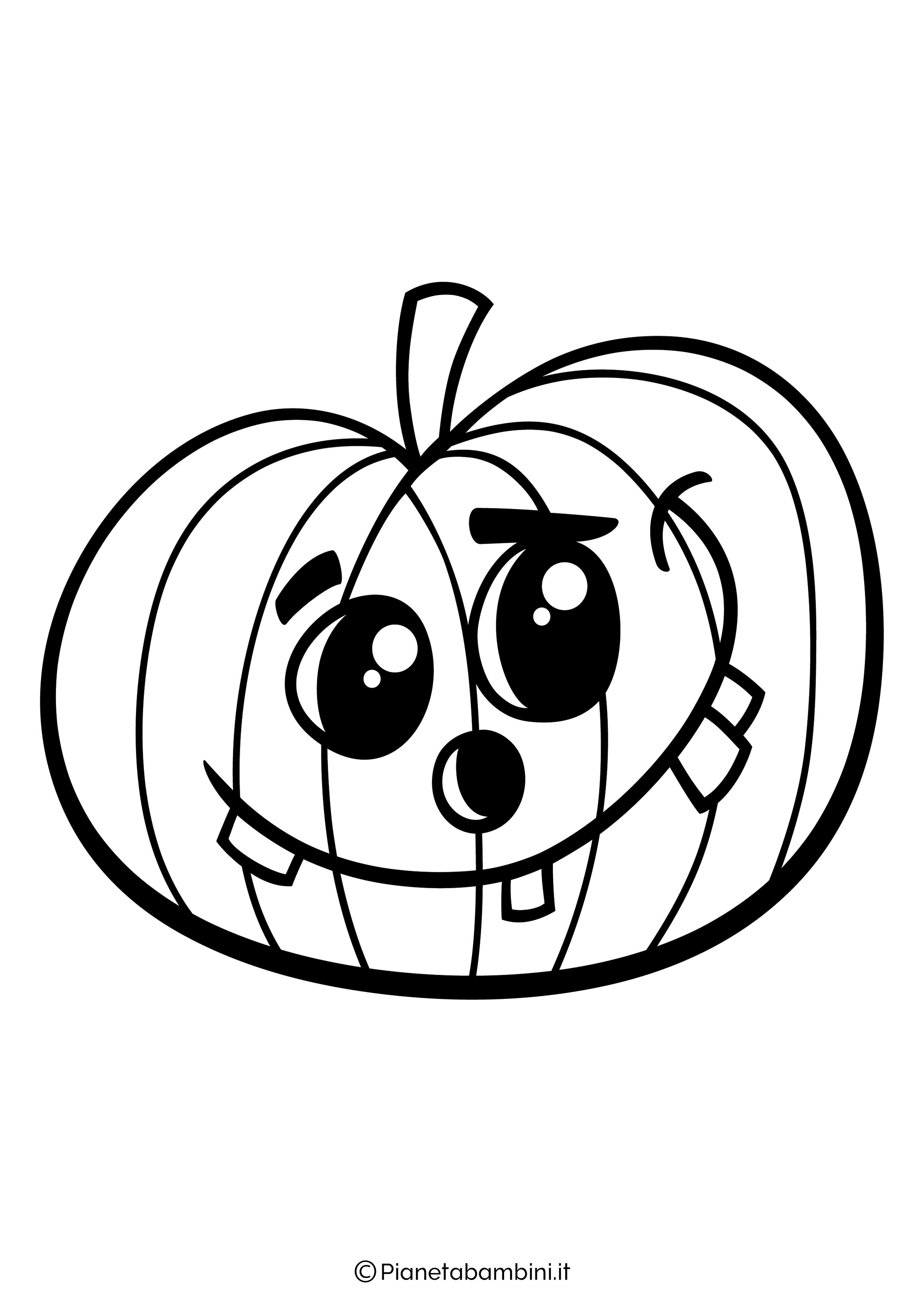Disegno di zucca di Halloween da Colorare 16